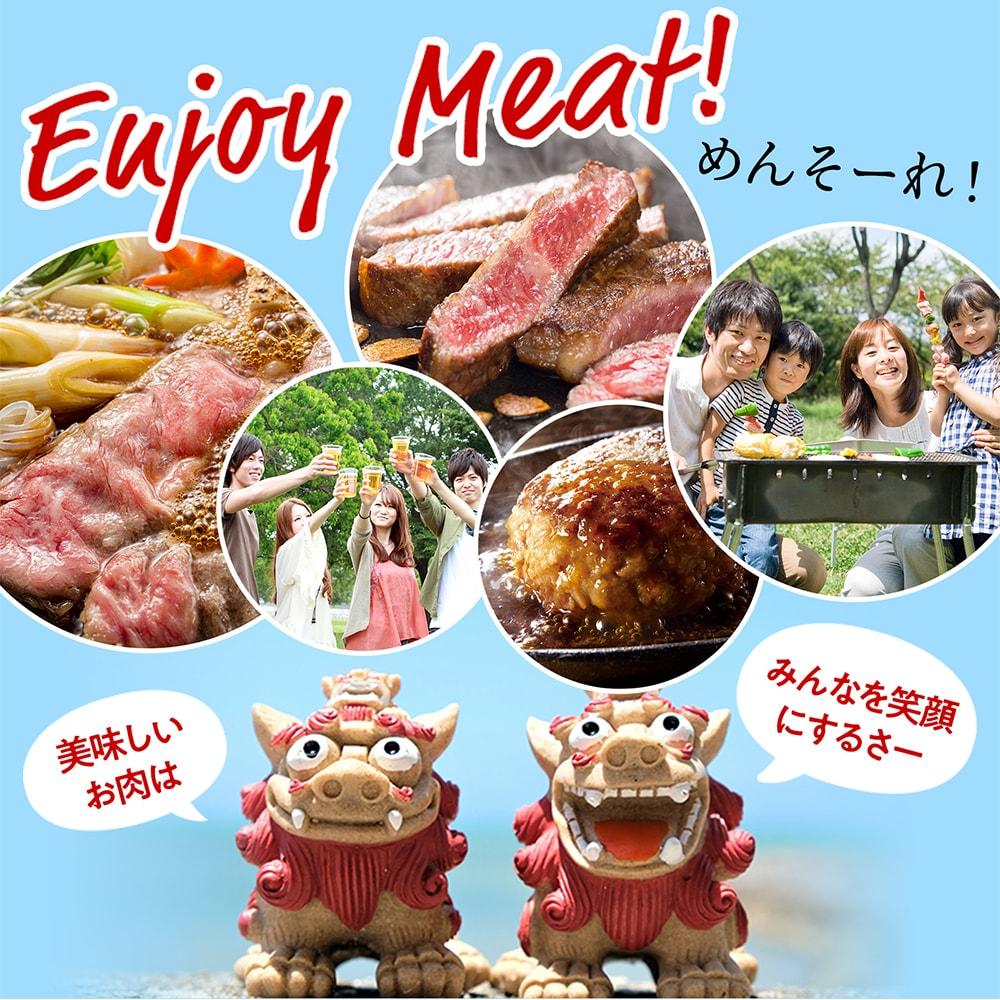 enjoymeat! めんそーれ! 美味しいお肉は みんなを笑顔にするさー