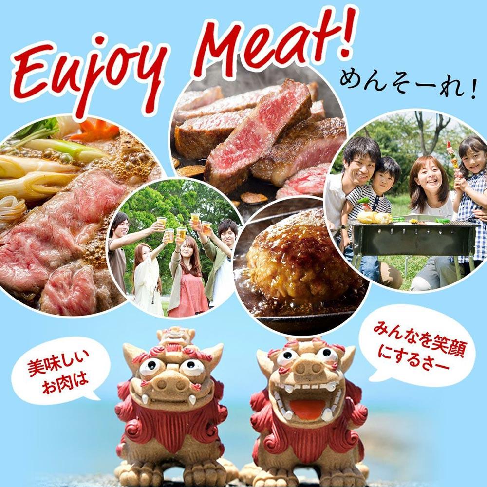 Enjoy Meat! めんそーれ! 美味しいお肉は みんなを笑顔にするさー